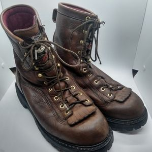 Georgia Boots Leather Work Lace Up Gore-tex